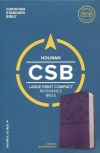CSB Large Print Compact Reference, Purple LeatherTouch