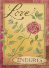 Card - Love Endures, 1 Corinthians 13:7 NLT, Single Card