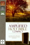 Amplified Compact Holy Bible Camel / Burgundy Soft Leather-Look