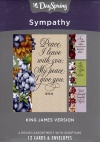 Sympathy Cards - Peace I Leave With You, KJV (Box of 12)