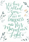 Card - He Has Called You out of Darkness into His Glorious Light - 1 Peter 2 vs 9