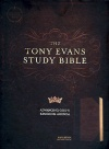 CSB Tony Evans Study Bible, Black / Brown LeatherTouch