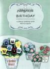 Birthday Cards - Potted Posies, Deluxe Diecut, Box of 12