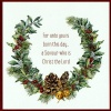 Christmas Card - Festive Wreath - GM - Pack of 10 - CMS