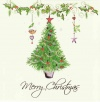 Christmas Cards - Merry Christmas with Christmas Tree - Box of 14 - CMS