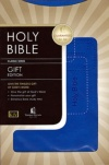 KJV - Gift Bible - Cobalt LeatherSoft  - GAB