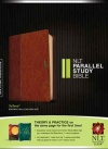 NLT Parallel Study Bible, TuTone Brown / Tan Leatherlike