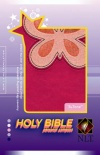 NLT Personal Compact Bible - Magenta/Pink Butterfly TuTone