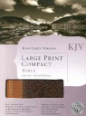 KJV Large Print Compact Bible Ancient Faith Design Brown & Tan Simulated Leather